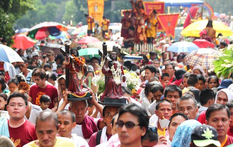 Feest van Zwarte Nazarene in Manilla, Filippijnen stock afbeelding