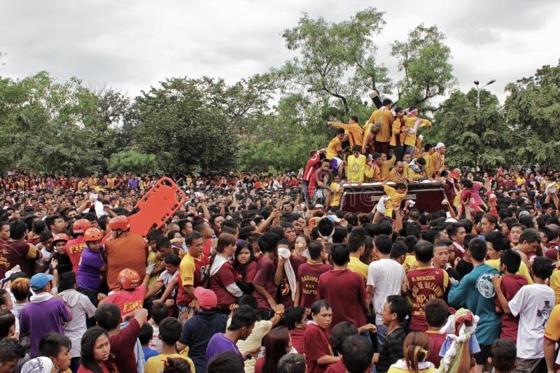 Feest van Zwarte Nazareno stock foto