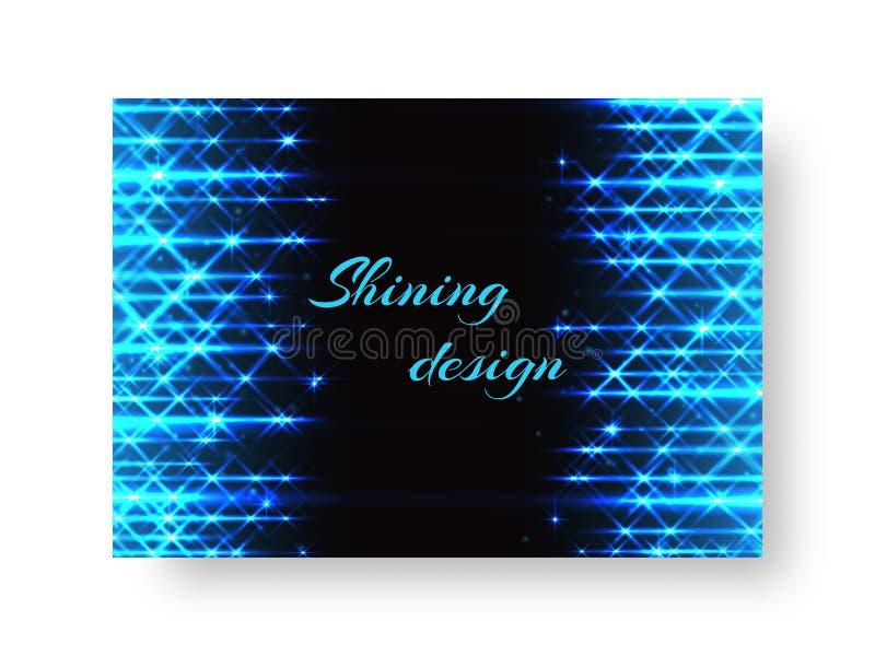 Feestbanner met neonlicht vector illustratie