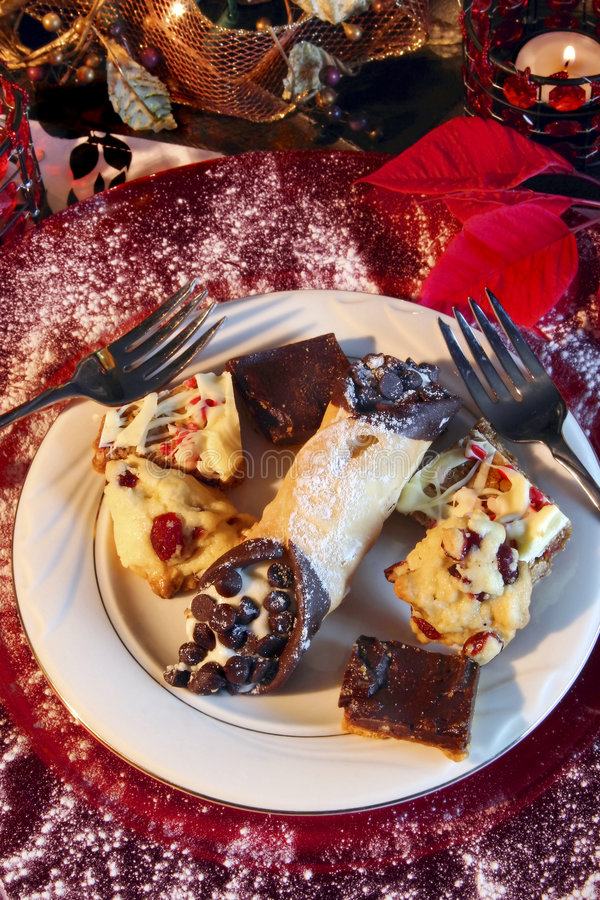 Feestelijk Dessert stock foto
