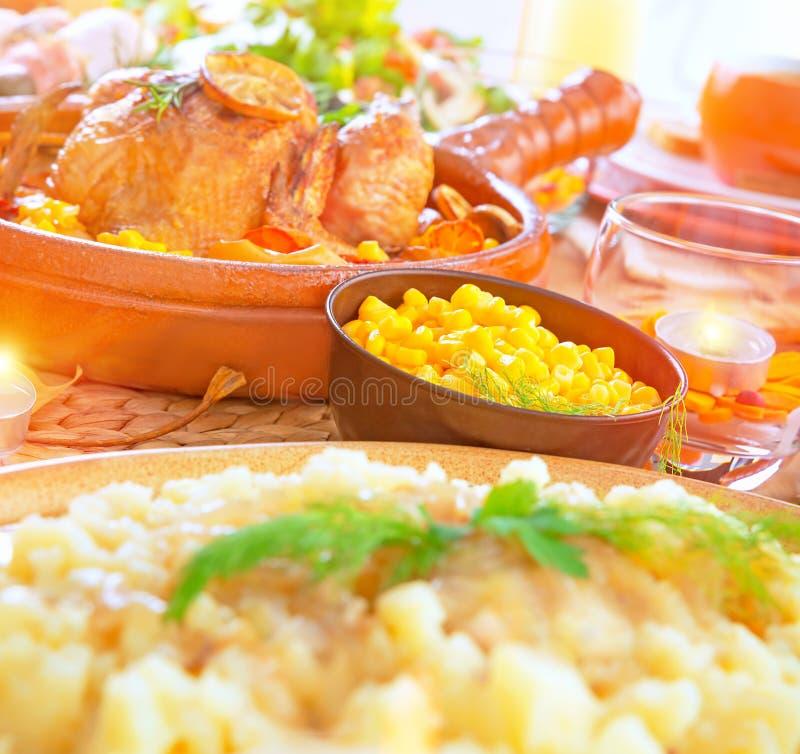 Feestelijk diner stock fotografie