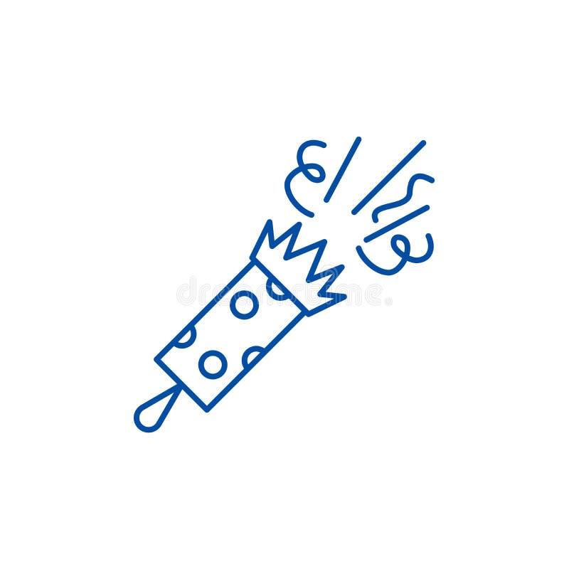 Feestelijk het pictogramconcept van de kleppenlijn Feestelijk kleppen vlak vectorsymbool, teken, overzichtsillustratie vector illustratie