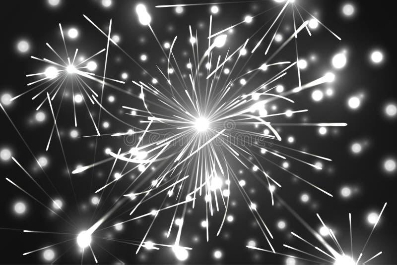 Feestelijk Nieuwjaar en Kerstmisvuurwerk vector illustratie