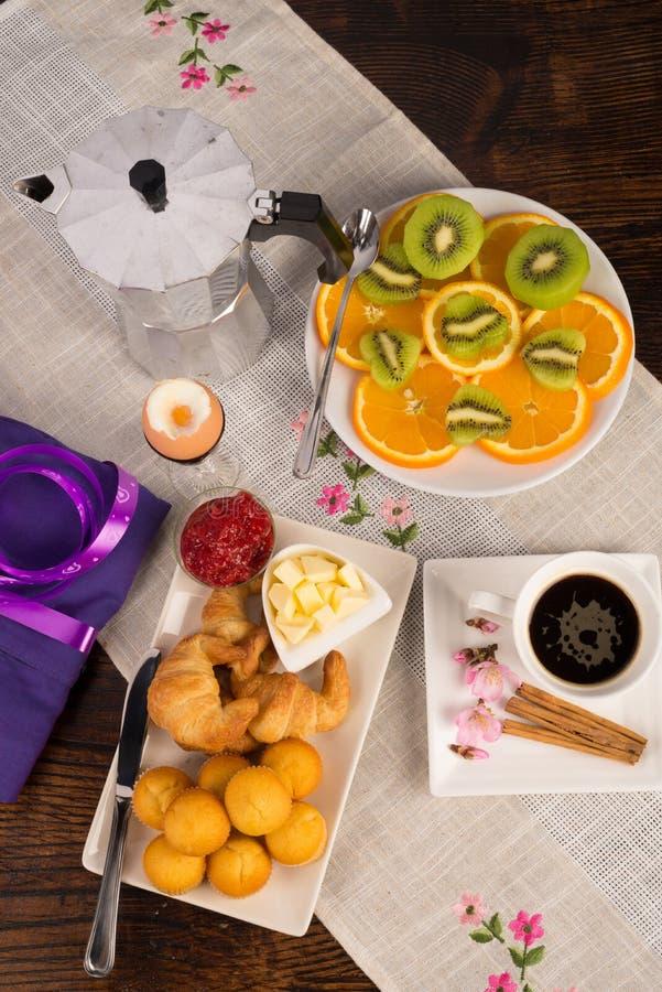 Feestelijk ontbijt stock afbeelding