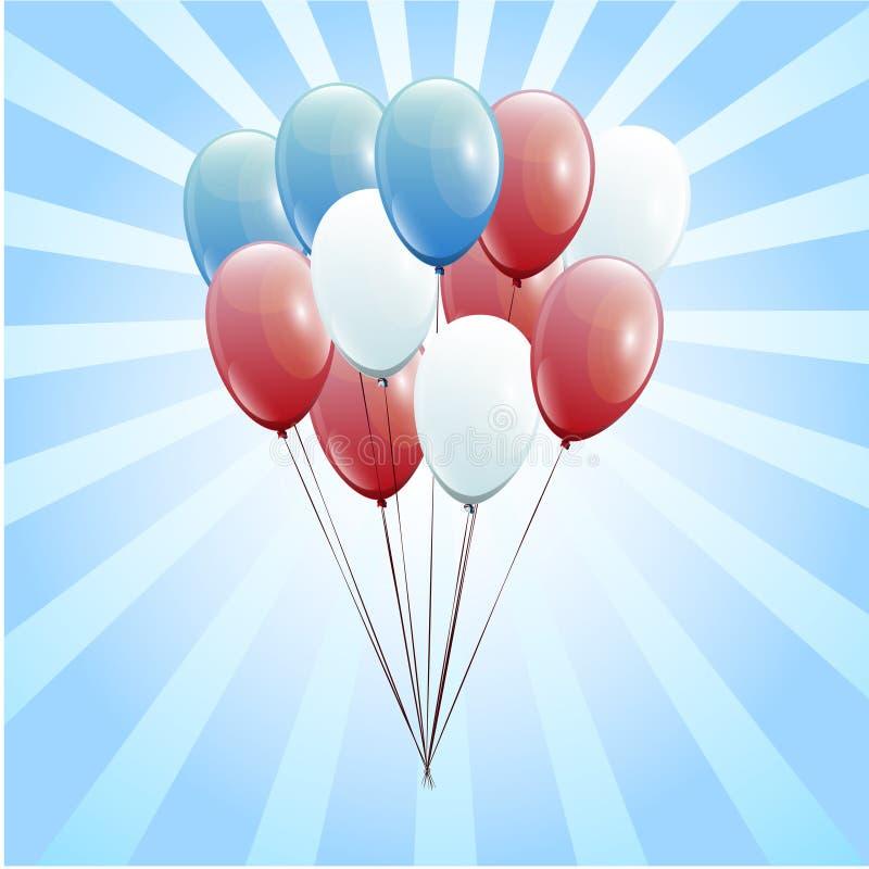 Feestelijke Ballons echte transparantie De dag van voorzitters royalty-vrije stock afbeelding