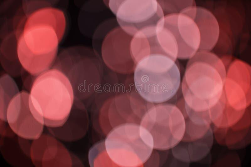 Feestelijke bokehachtergrond Abstracte achtergrond met vage lichten royalty-vrije stock fotografie