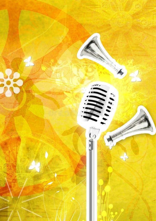 Feestelijke etnische muziek   vector illustratie