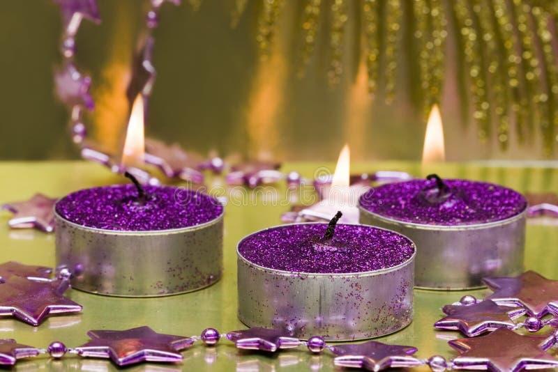 Feestelijke kaarsen royalty-vrije stock afbeelding