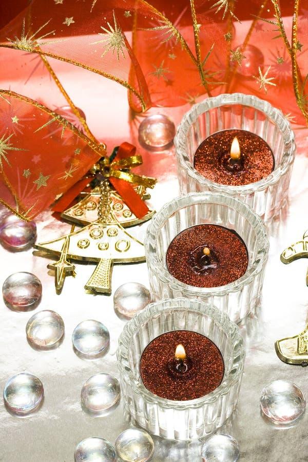 Feestelijke kaarsen royalty-vrije stock foto