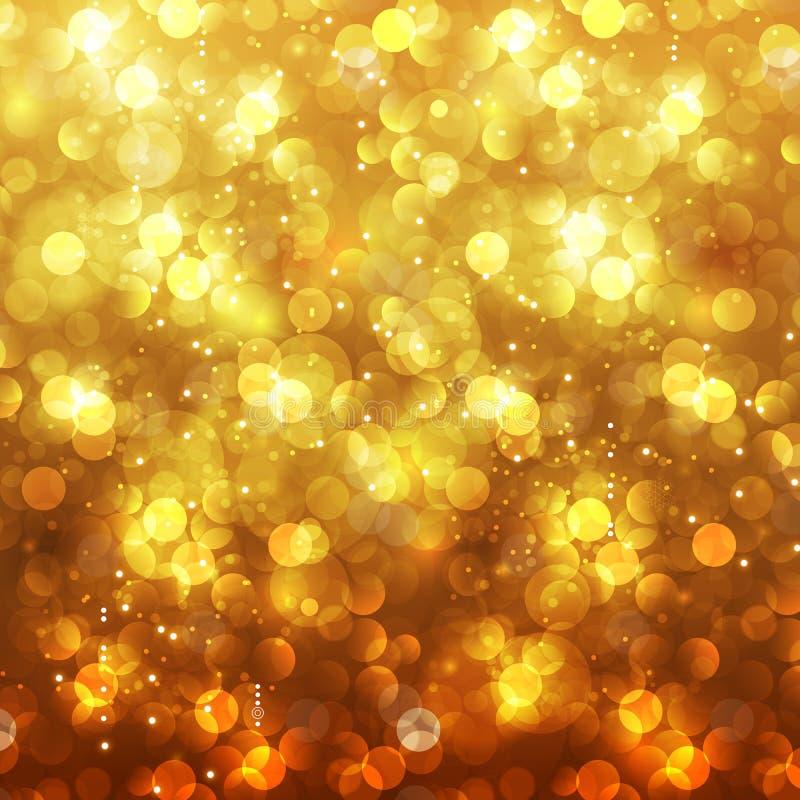 Feestelijke Kerstmis en Nieuwjaarfeest bokeh achtergrond vector illustratie