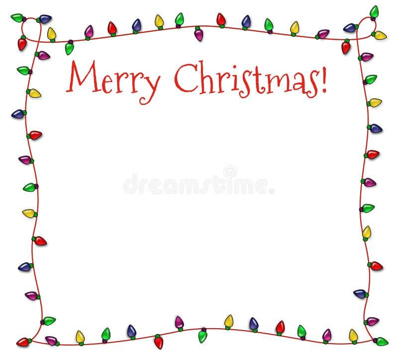 Feestelijke kerstmis steekt kader aan stock illustratie