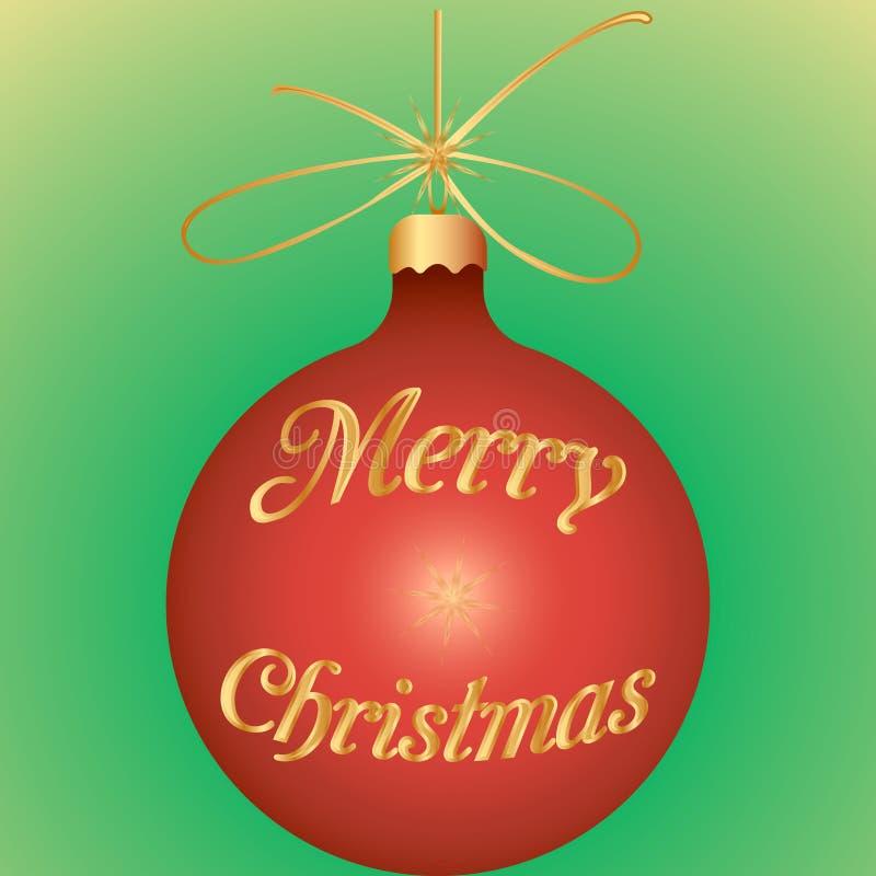 Feestelijke Kerstmisbal stock illustratie