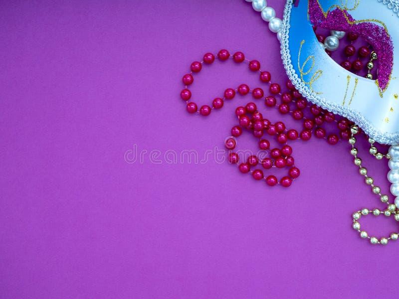 Feestelijke Venetiaanse carnivale van mardigras stock fotografie