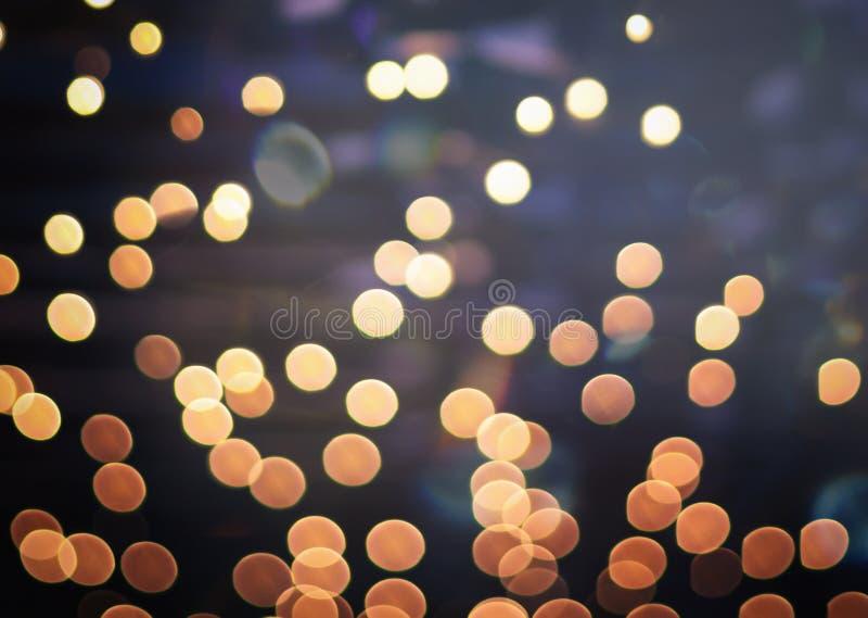 Feestelijke verlichting met bokeh, abstracte bea van het Kerstmisnieuwjaar stock foto's