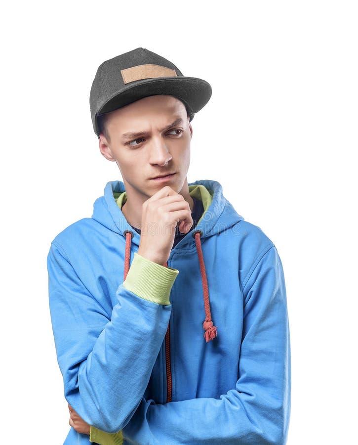 Feestneus in blauwe kleding stock fotografie