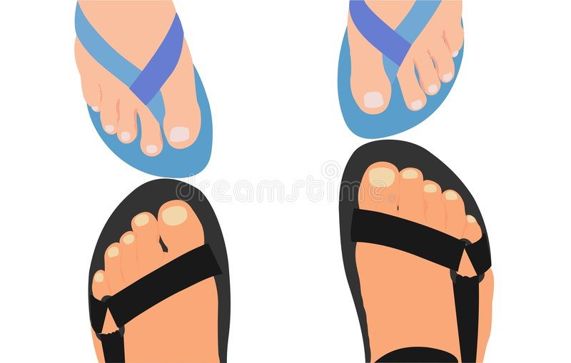 Download Feet stock vector. Image of feet, holiday, woman, calm - 2276492
