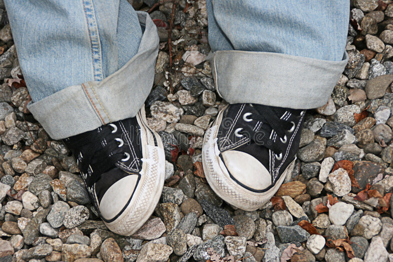 Download Feet stock image. Image of shoes, feet, sneakers, bluejeans - 4493925
