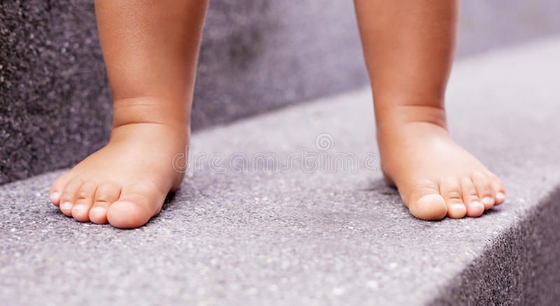 Feet of a baby royalty free stock images