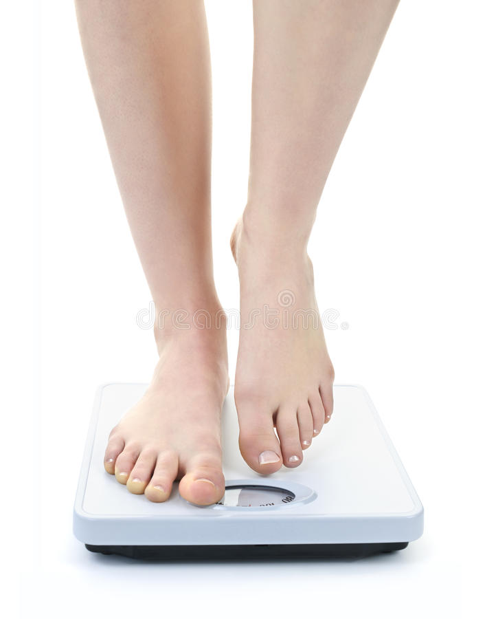Download Feet on bathroom scale stock image. Image of legs, measure - 20012081