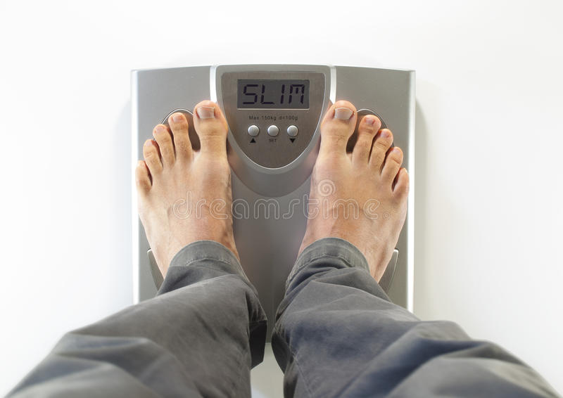 Download Feet On A Bathroom Scale Slim Stock Photo - Image: 27531938