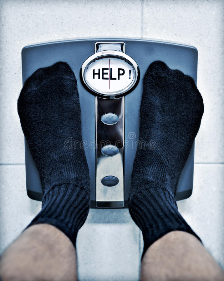 Free Feet Bathroom Scales Weight Loss Obesity Stock Image - 16696081