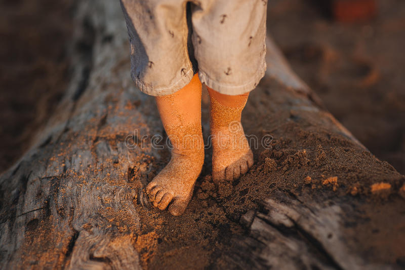 Feet on a beach stock images