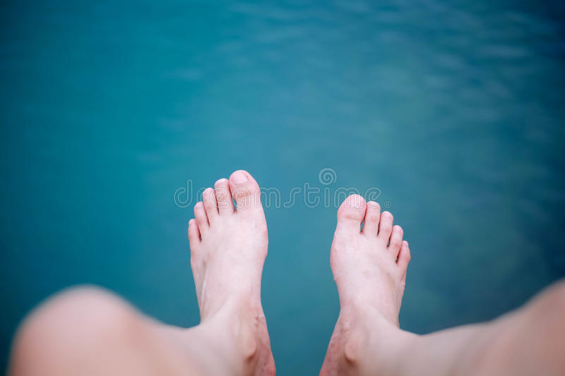Feet. On beach in Thailand royalty free stock photos