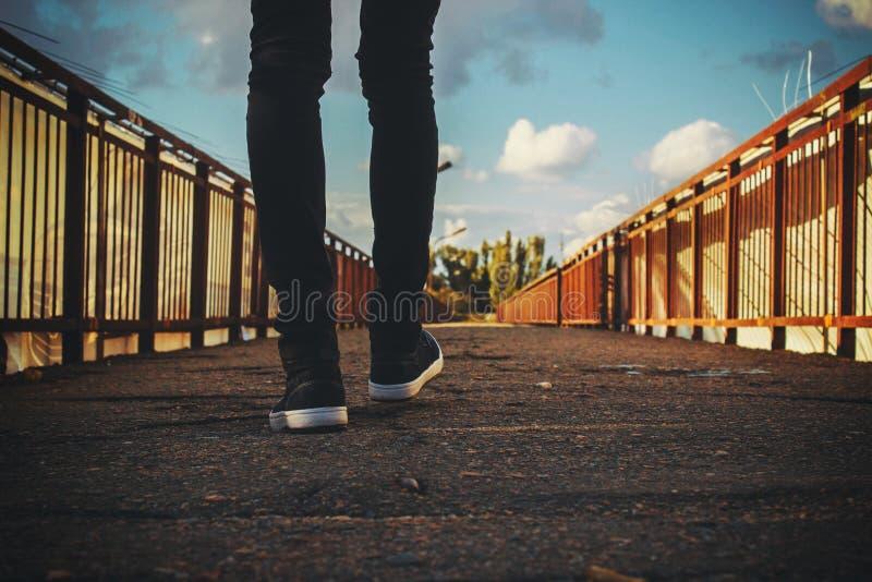 Feet On Bridge Free Public Domain Cc0 Image