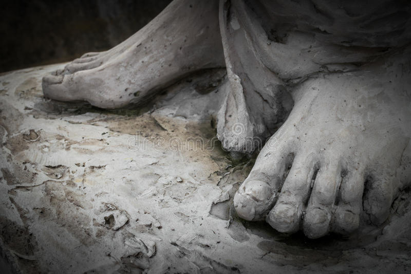 The feet of Christ royalty free stock photo