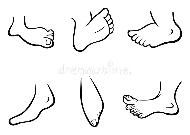 Feet Collection Royalty Free Stock Images