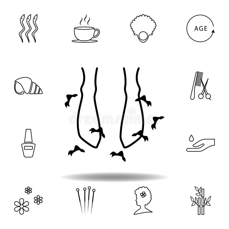 feet couple in spa outline icon. Detailed set of spa and relax illustrations icon. Can be used for web, logo, mobile app, UI, UX stock illustration