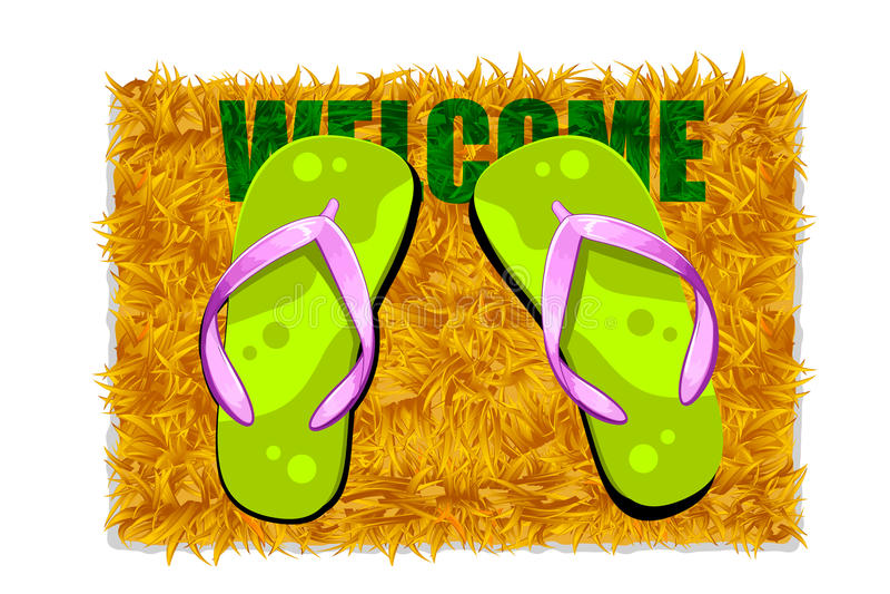 Download Feet on Door Mat stock illustration. Image of homecoming - 20009488