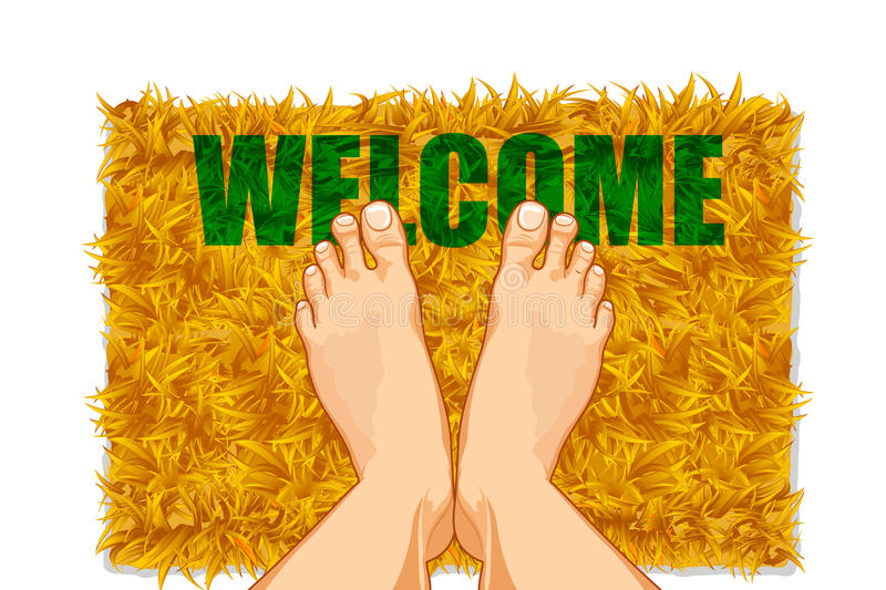 Download Feet On Door Mat Royalty Free Stock Photography - Image: 20399417