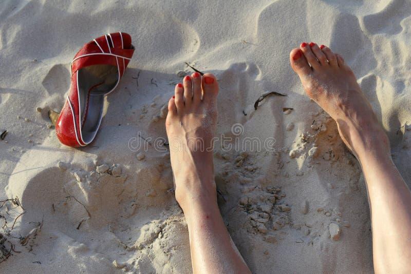 Feet and heels stock image