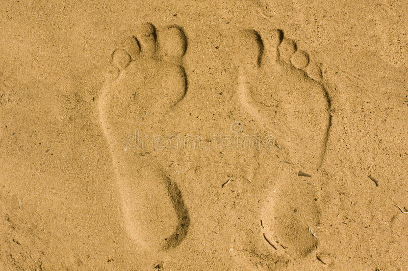 Download Feet imprint in sand stock image. Image of invert, tracks - 10112343