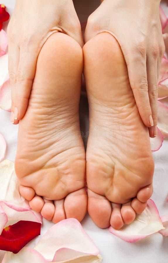 Feet massage stock image
