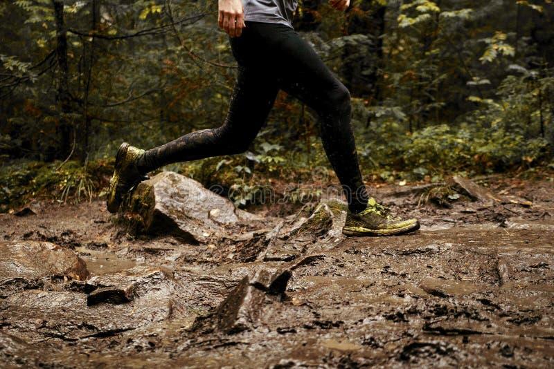 Feet men runner royalty free stock image