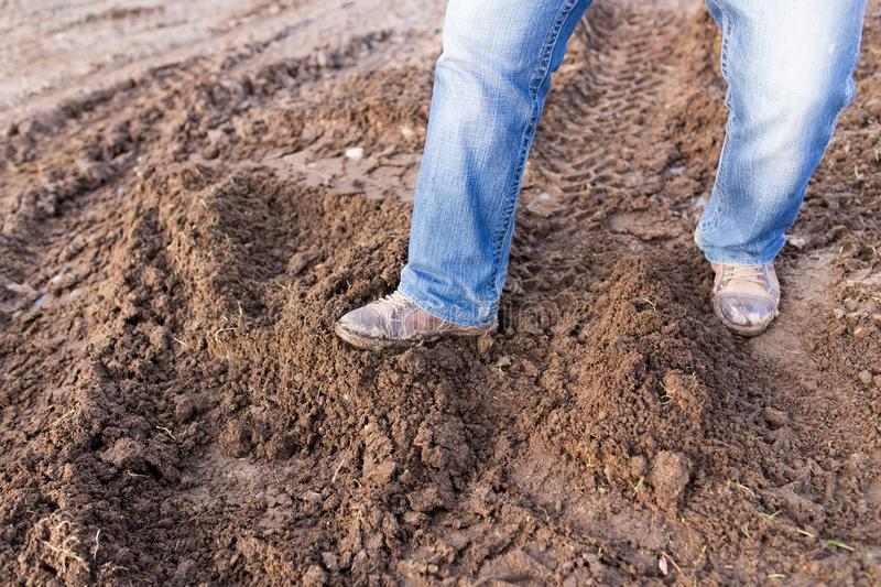 Feet in the mud stock photography