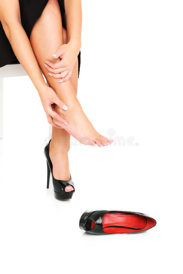 Feet in pain stock image