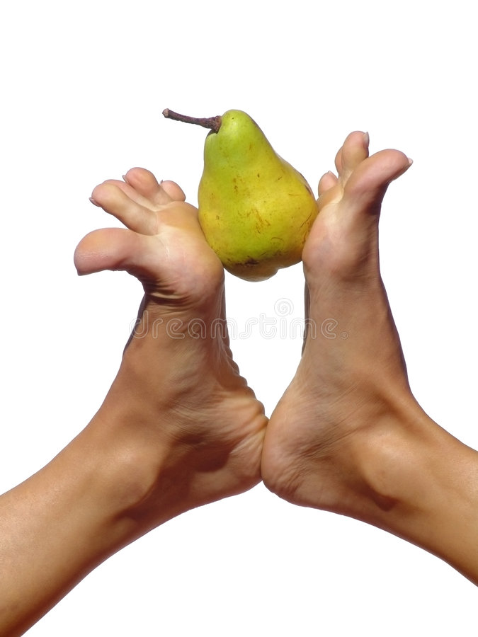 Feet & pear stock images