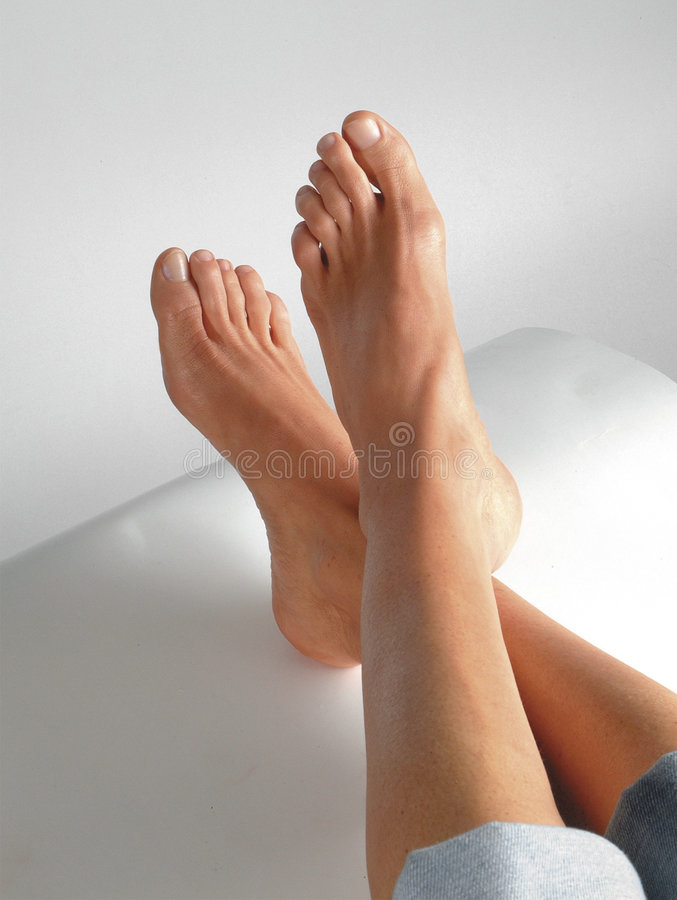Feet With Pedicure stock images