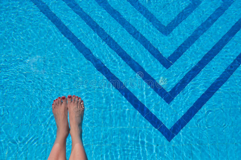 Download Feet in a pool stock image. Image of legs, beautiful - 26701093