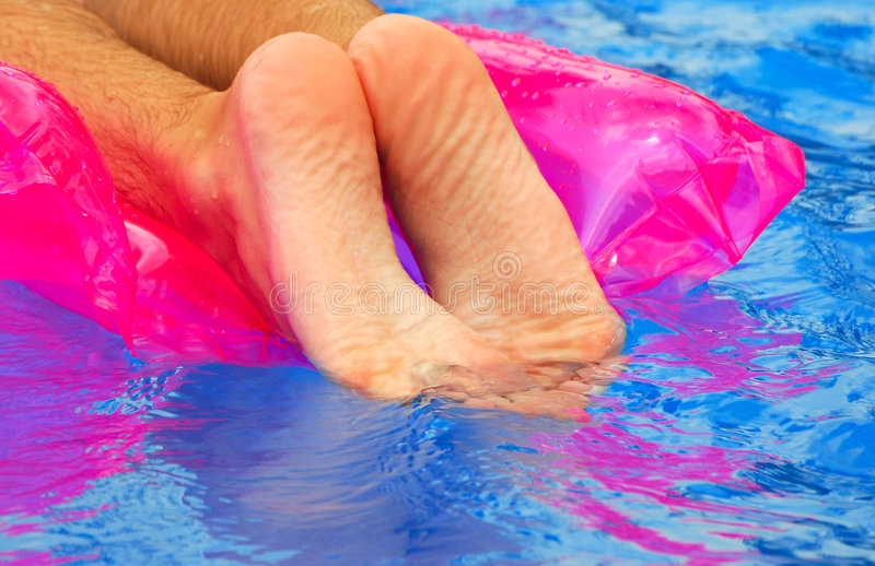 Feet In Pool Royalty Free Stock Photography