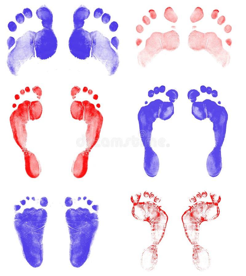 Feet Print Royalty Free Stock Photos