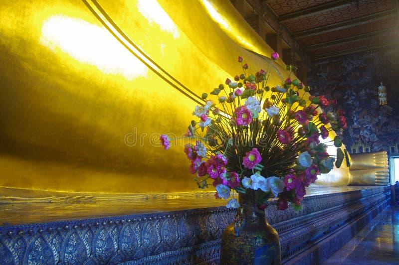 Feet of Reclining Buddha in Wat Pho royalty free stock photos