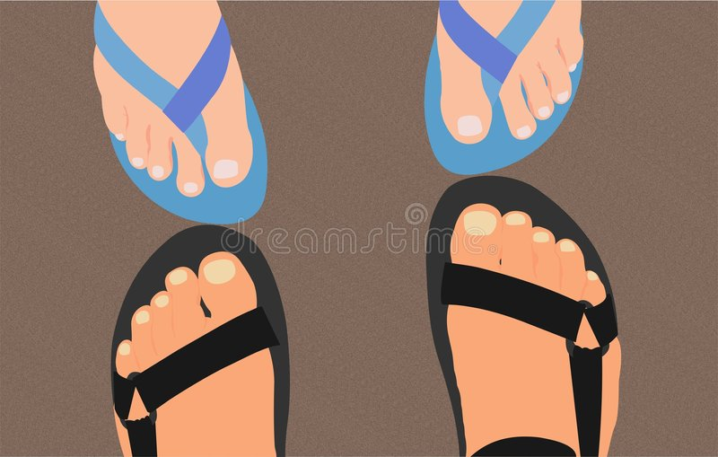 Download Feet on the sand stock vector. Image of travel, sand, woman - 2276541