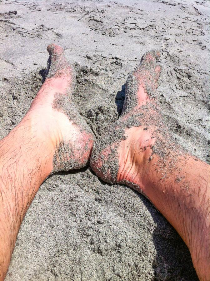 Download Feet in the Sand stock image. Image of vacation, tropical - 43469121