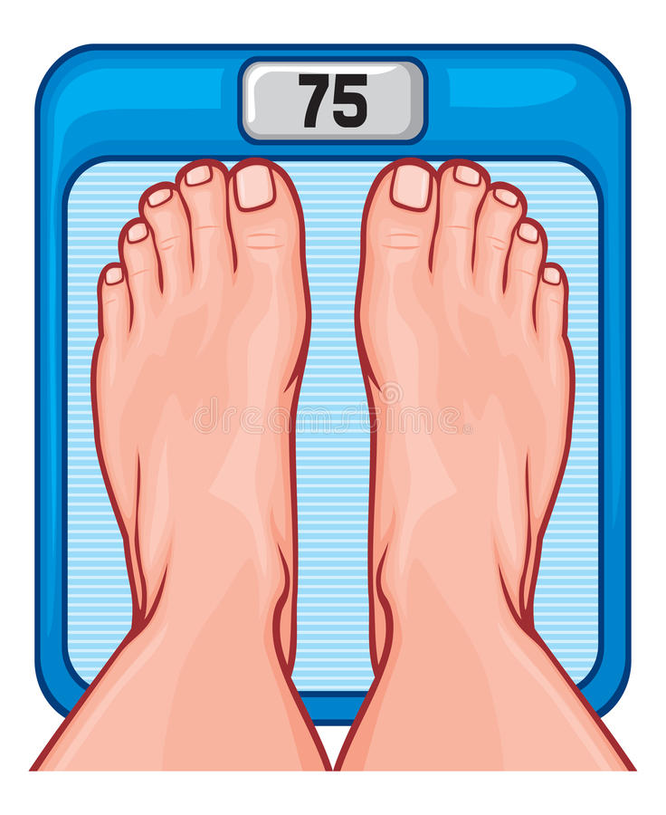 Download Feet on the scale stock vector. Image of bathroom, diet - 31060656