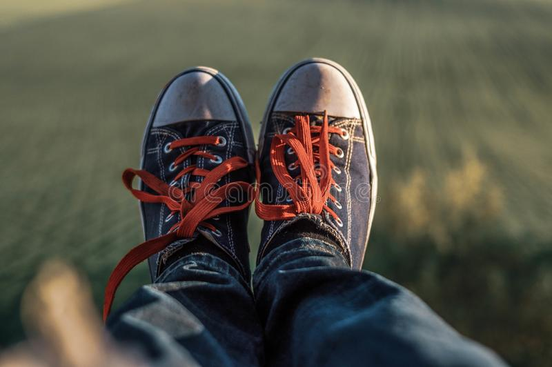 Feet with shoes stock photography
