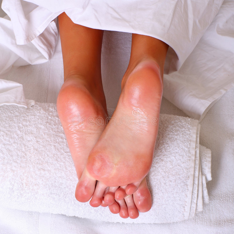 Feet and SPA royalty free stock image